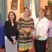 From left- Rep. Kim Rose, Rep. Rosa Rebimbas, House Republican Leader Themis Klarides, Rep. Jan Giegler and Secretary of the State Denise Merill posed for a photo during a legislative women's caucus reception.  Rep. Klarides was honored for her dedicated work and commitment to the state.