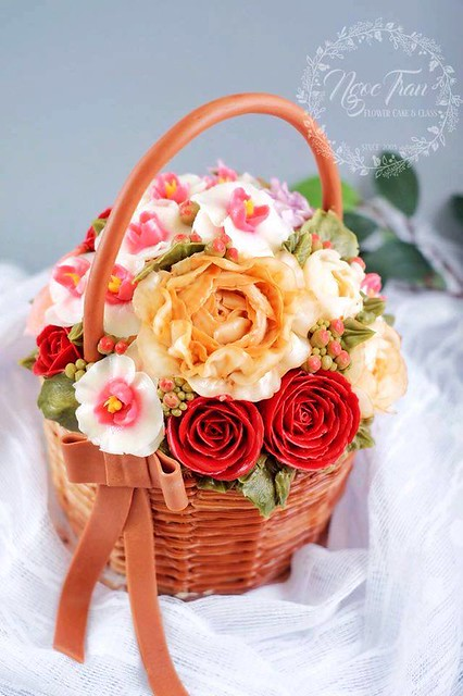 Basket Full of Flowers by Lam Ngoc Tran