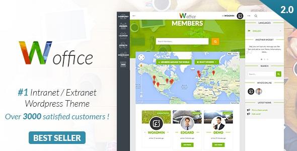 Woffice v2.1.0.1 - Intranet/Extranet WordPress Theme