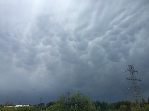Mammatus clouds over Herndon
