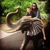 Riding an elephant with the bestie during a lovely day at the zoo with the fam for nephew's first birthday. #besties #family #dallas #elephant #zoo #latergram #awesome #bubbie