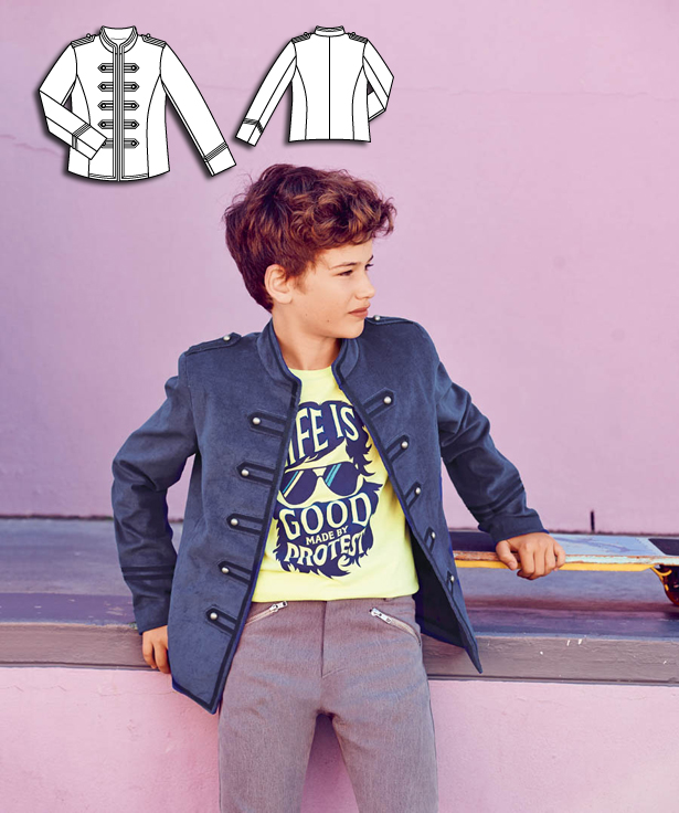Boys Military Jacket 062015 134 Sewing Patterns Burdastyle