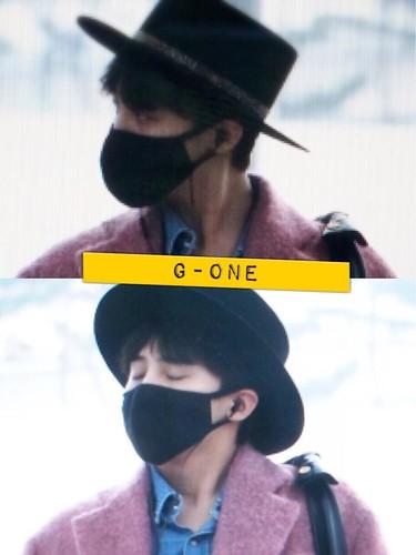 Big Bang - Incheon Airport - 21mar2015 - G-Dragon - G-One - 01