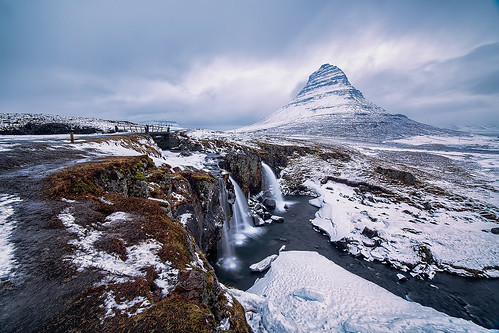 mountain snow clouds sunrise waterfall iceland kirkjufell libralato kirkjufellsfoss canoneos6d samyang14mm lucalibralato