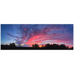 A pano shot of tonight's sunset over the farm. #cool #sunset #countryliving #trb_rural_sunsetsfx #farmlife #mono-Ontario #orangeville #lifewithhorsesphoto