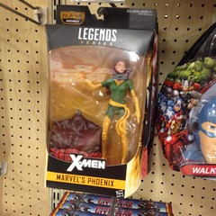 Finally seen #marvellegends#phoenix#hasbro#action figure in stores on #sunday. I #passed on her for now. She just seems like something is missing........besides a fire stand.