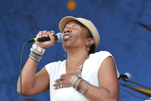 Charmaine Neville at Jazz Fest.  Photo by Kichea S Burt.