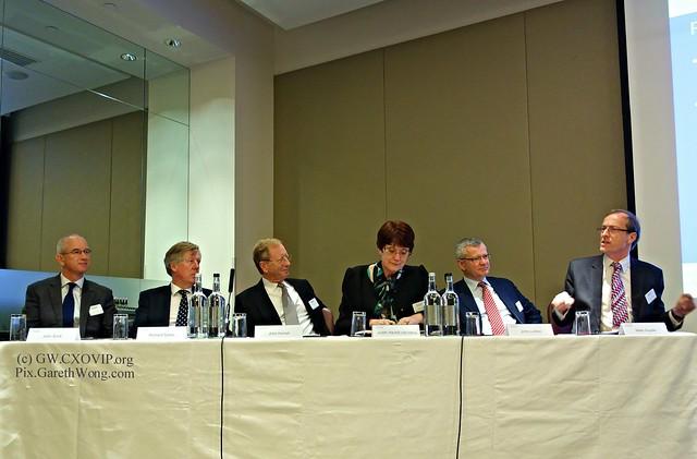 John Scott, CRO Zurich, Richard Sykes, Partner, PwC, John Hurrell, CEO Airmic, Judith Hackitt CBE Chair, UK Health & Safety Executive, John Ludlow, SVP IHG, Mark Goyder, Tomorrow's Risk leadership panel from RAW _DSC8459