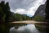 At Swinging Bridge in Yosemite Valley. Yosemite National Park, California. 20th April, 2015.