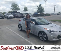 Congratulations to Wanda Arias on your #Hyundai #Veloster from Steven Kravetz at Southwest KIA Rockwall! #NewCarA