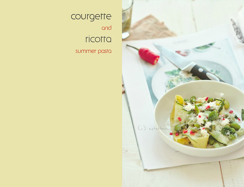 courgette and ricotta summer pasta