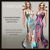 LEGENDAIRE MARYLIN MAXI DRESS WITH HEELS