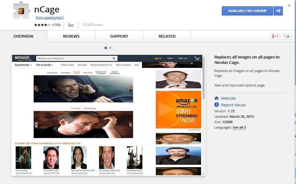 Visus paveiksliukus internete užkeičia Nicolas Cage aktoriaus nuotrauka...