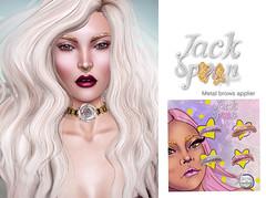 {JACK SPOON} Glitter Brows - Lelutka Applier
