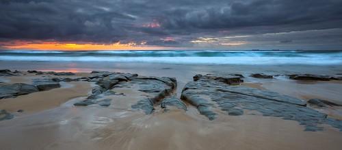 panorama seascape sunrise australia