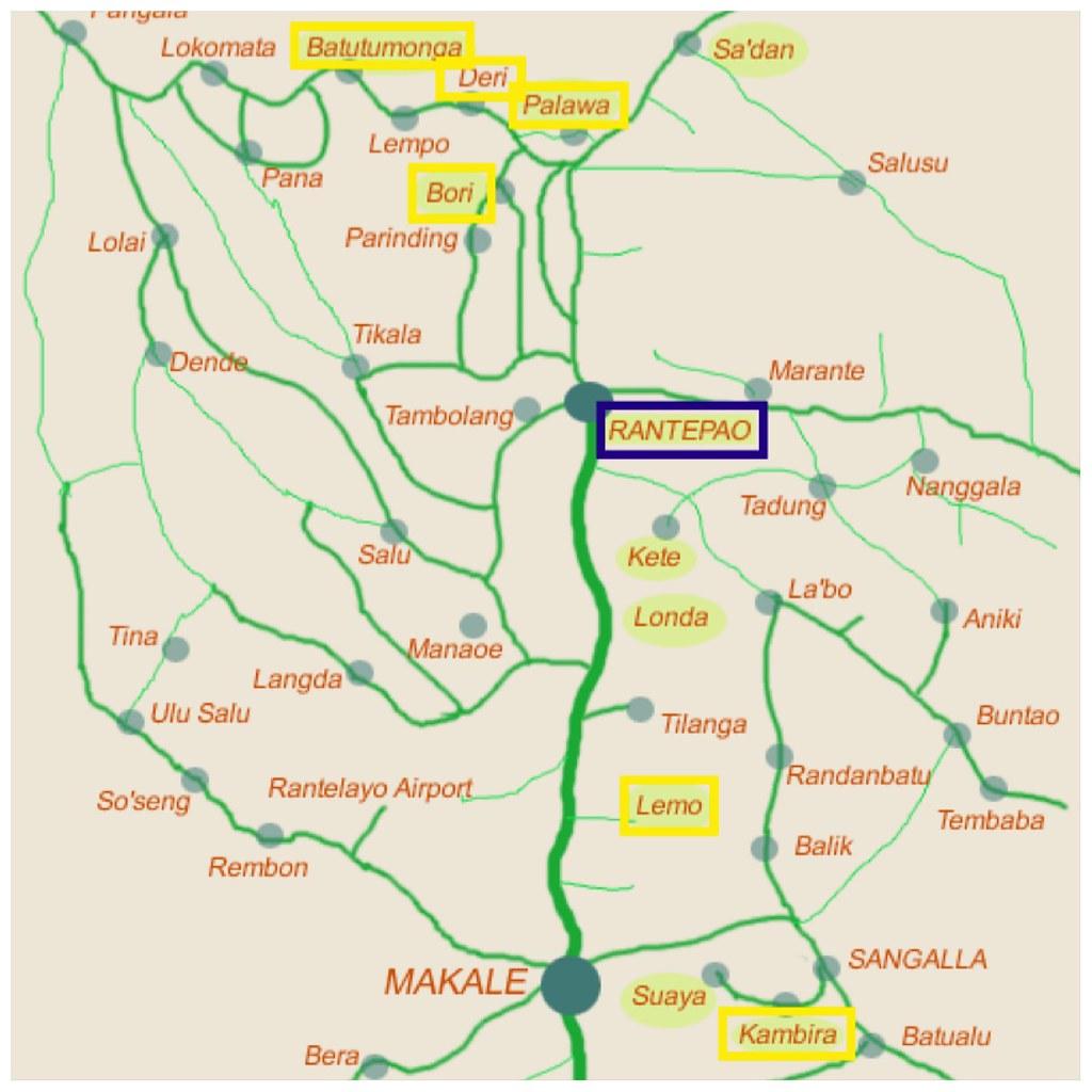 Mapa Rantepao