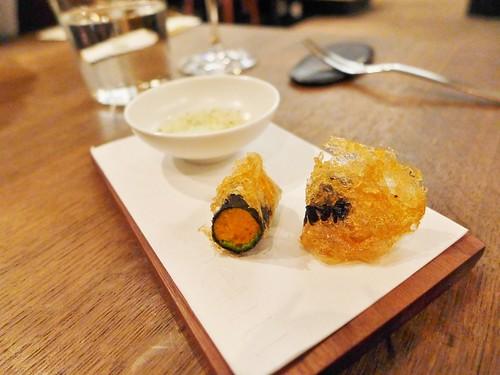 Benu restaurant sea urchin nori