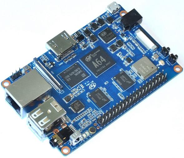 Banana Pi M64 : Une version 64 bits sous Allwinner A64