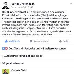 Unterstützung der Community im #boardreport Streit ist grandios - klasse Posting von Patrick @breitenbach https://www.facebook.com/photo.php?fbid=10208527982388854&set=a.1941920039484.107021.1586960535&type=3&theater