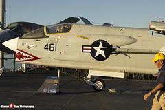 147030 NE-461 - US Navy - Vought F-8K Crusader - USS Midway Museum San Diego, California - 141223 - Steven Gray - IMG_6760