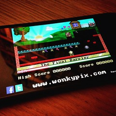 Manic Miner on iPhone!  #ManicMiner an old time classic!