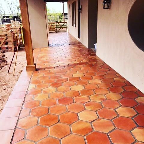Beautiful Hexagon Saltillo Tile Terracotta Floor Flooring