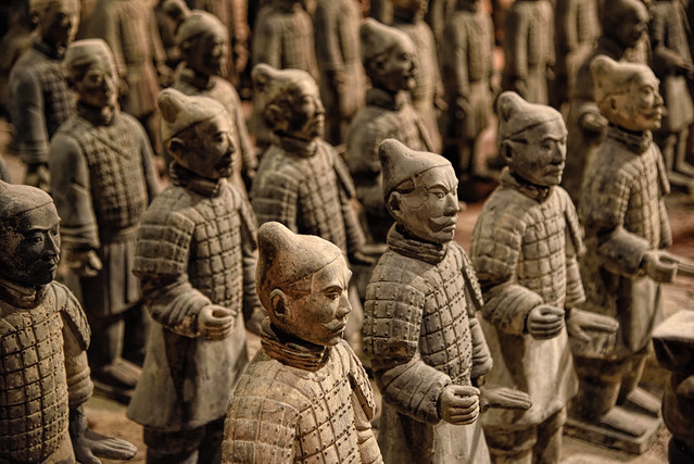 Replicas of The Terracotta Army located at Epcot Disney Park in FL.