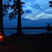 Camp fire and sunset - Lake Guntersville by joegilbreath