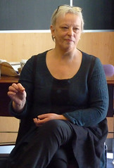 Kathy Galloway at Bus Party event at the University of Stirling, April 2015