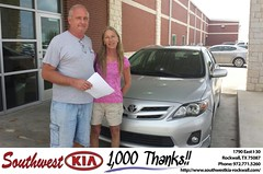 Congratulations to Steve Lang on your #Toyota #Corolla from Zane Beadles at Southwest KIA Rockwall! #NewCar