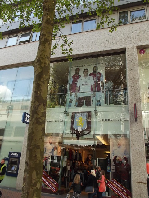 Aston Villa - FA Cup Final 2015 day - AVFC Shop - New Street, Birmingham