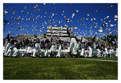 West Point graduation cap toss