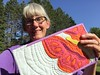 Mug Rug Swap:  thank you, Wanda from Virginia!  I will cherish and enjoy your gift!
