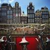 Fiets parking at the Bloemenmarkt :tulip::bike: