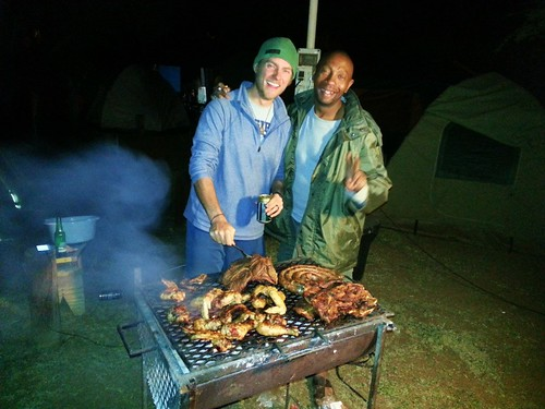 Tom and Solomzi braaiing up a storm!