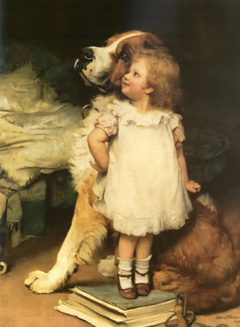 I am higher! by Charles Burton Barber