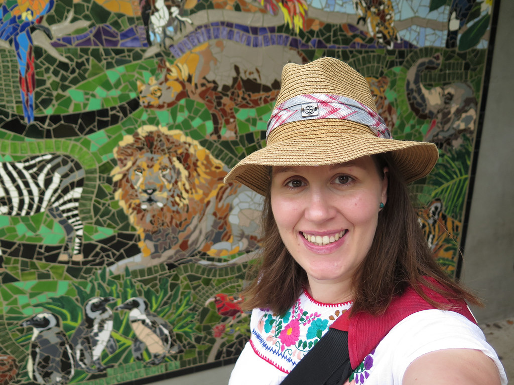 Me and another great mosaic at the zoo