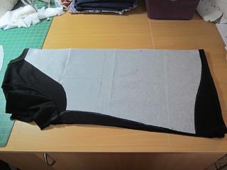 Reshaped black t-shirt