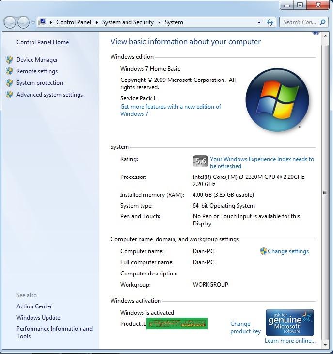 computer system properties