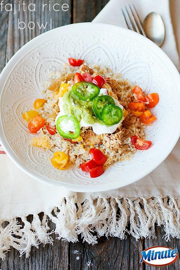 fajita rice bowl | heathersfrenchpress.com #minutemeals