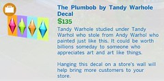 The Plumbob by Tandy Warhole Decal