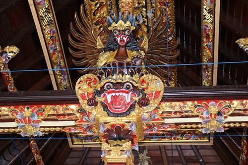 Intricate carvings at Tirta Empul