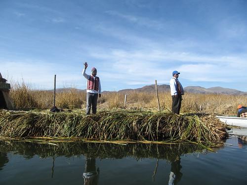 Lac Titicaca: arrivée aux îles Uros
