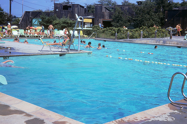 Directly across Merwin Ave from our house was the Surf Club. It was pretty cool with its nice pools, cabanas, a snack bar. My friends  and I used to sneak in. (that's me and a friend at top right). Milford Connecticut. July 1974