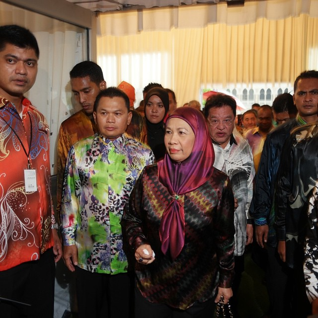 Her Royal Highness the Queen of Malaysia at the opening ceremony of the #BigKitchen festival in Kuala Lumpur.