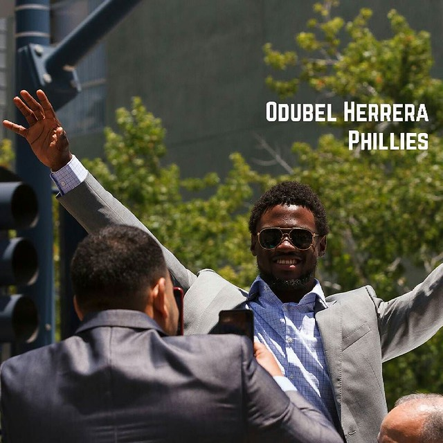 Odubel Herrera, Philadelphia Phillies, 2016 MLB Red Carpet Show Parade
