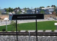 RTD Westminster Station Sign