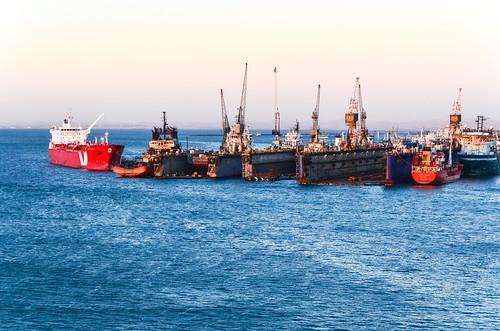 Cales sèches, port de Walvis Bay