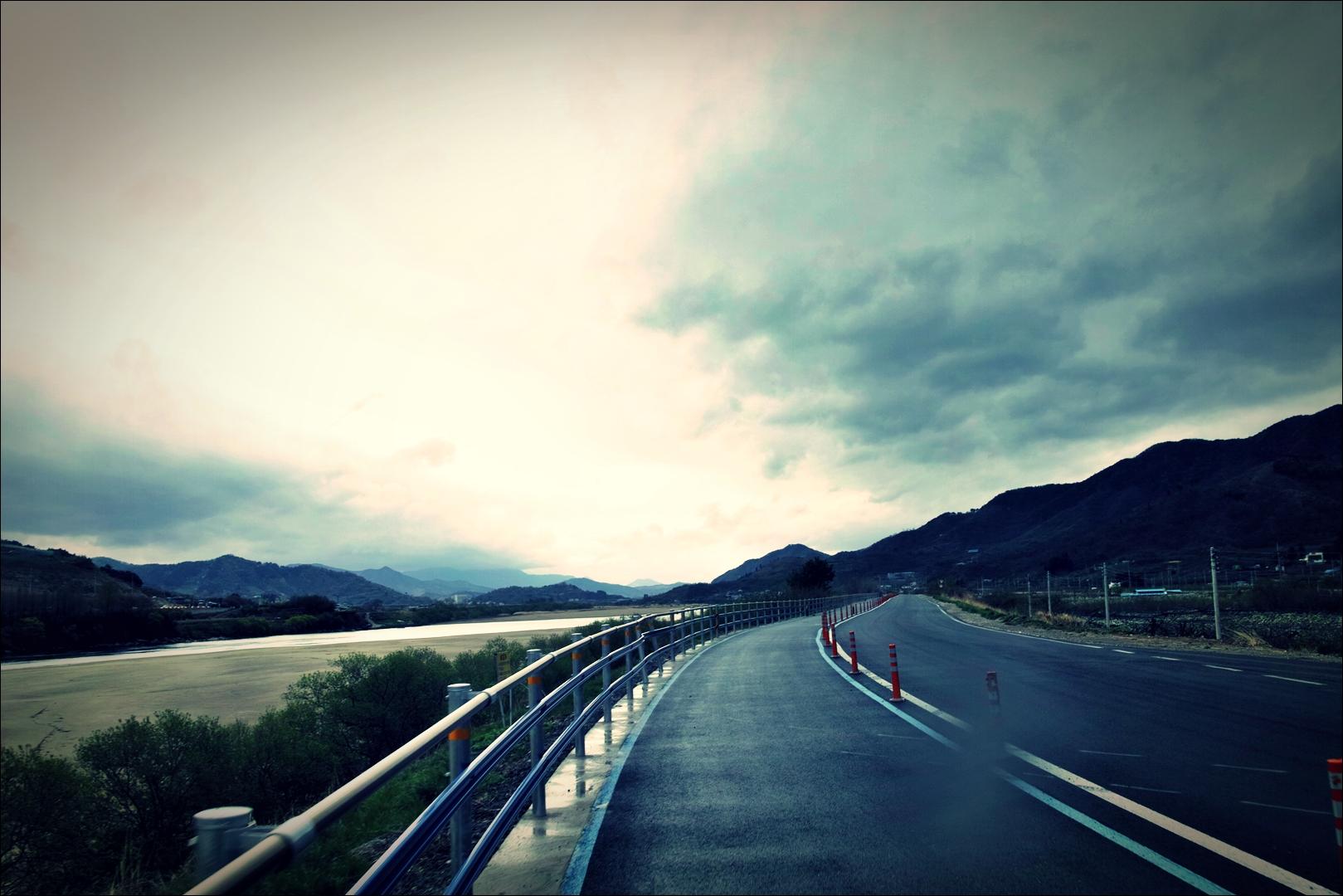 비 내리는 섬진강 자전거 길 -'섬진강 자전거 여행'