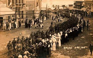 The first Anzac Day in Brisbane, 25 April 1916